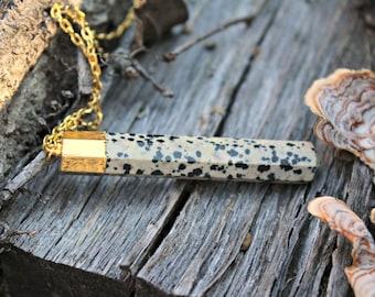 Dalmatian Jasper Stone Necklace