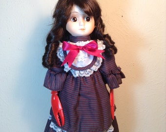 SALE!! (Was 40.00 ) Lobster Girl Wind Up Music Doll