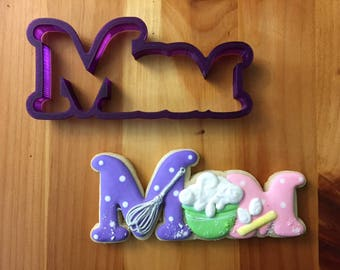 Mom Cookie Cutter and Fondant Cutter and Clay Cutter