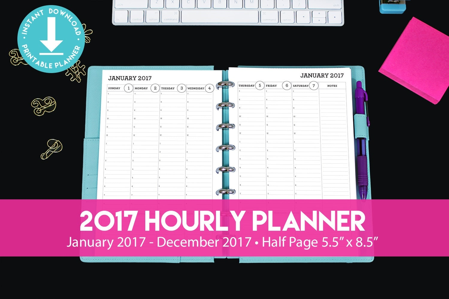 hourly agenda