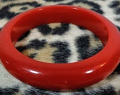 Vintage Red Bakelite Bangle