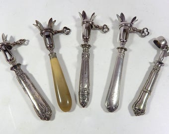 5 French Antique Handles for Leg of Lamb 'Manche a Gigot'