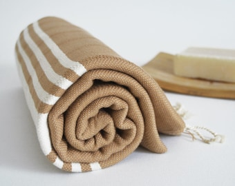 SALE 50 OFF/ BathStyle / No18  Desert sand / Turkish Beach Bath Towel Peshtemal / Bath, Beach, Spa, Swim, Pool Towels