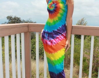 Tie Dye Cotton Dress Size Medium