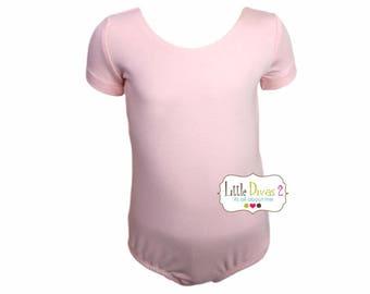 Lt.Pink Leotard-Ballet Short Sleeve Leotard (Children's)