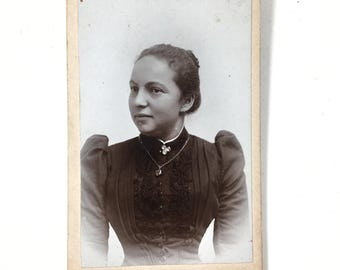 Vintage Cabinet Card small - Young Woman Lady Girl German
