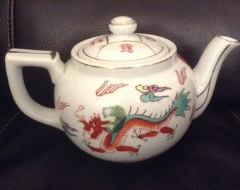 Vintage Japanese, Asian Teapot with Lid