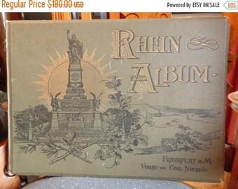 AUTUMN SALE Antique Art Book - Rhein Album by Gezeichnet und Gestochen von F Foltz 1871