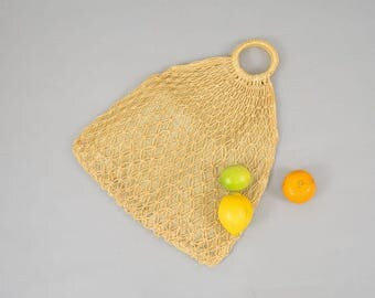 70's Woven JUTE Market Bag