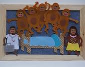Felt Board Kit / Five Little Monkeys Jumping On The Bed / Daycare / Story Time Library / Homeschooling / Felt Board Sets / Felt Songs /