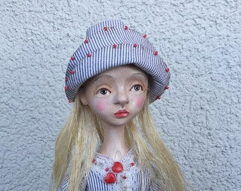 Art doll Valery OOAK doll Collecting doll Paper clay doll Clay doll Air dry clay doll Clay doll Human figure doll