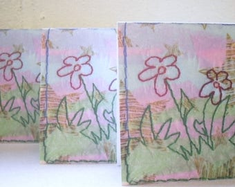 Flower Notelet, Greetings Cards, small Note cards Pack of 3 Blank Cards suitable for many occasions