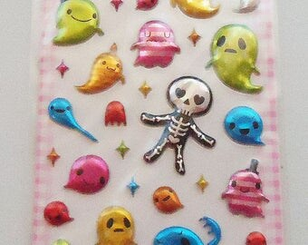 The Japanese Ghost Puffy Sticker Sheet.