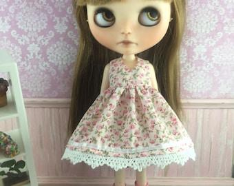 Blythe Dress - Tiny Pink Floral