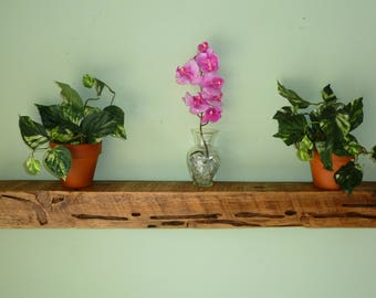 Reclaimed Wood Floating Shelf, Floating Beam Shelf, Floating Shelf, Rustic Shelf, Distressed Wood Shelf