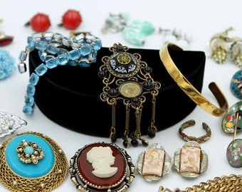Big  Vintage Jewelry Destash - 27 Pieces for Repurpose or Repair
