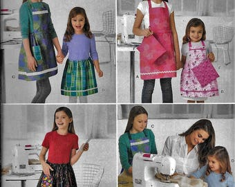 Simplicity 2173 Learn To Sew Childs Girls Apron Sewing Pattern UNCUT Size 3, 4, 5, 6