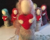 Needle felted miniatures: Cwtchs - little dolls made from wool
