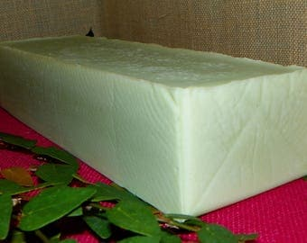 Apple Candy  Whole 3.5 Pounds Coconut Milk Soap Loaf with Argan Oil and Shea Butter