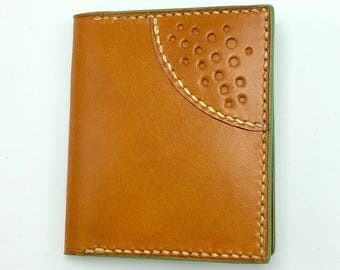 Retina Wallet - Tan English Bridle leather - leather wallet - made in USA