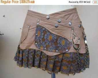 """20%OFF bohemian tribal gypsy fringed leather belt..32"""" to 40"""" waist or hips.."""