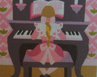 Vintage Long Stitch Kit / Royal Paris / Girl sitting by the piano