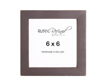 """6x6 Gallery 1"""" picture frame with - Chocolate Brown"""