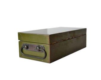 Vintage Guild Metal Cash Box with key