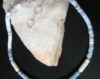 Owyhee Blue Opal Heishi Necklace