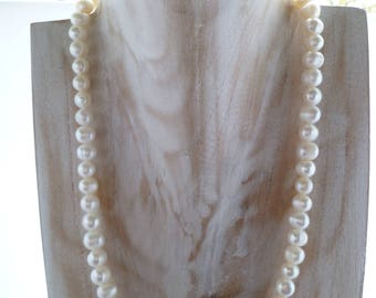 Ivory Freshwater Pearl Necklace UK made 19""
