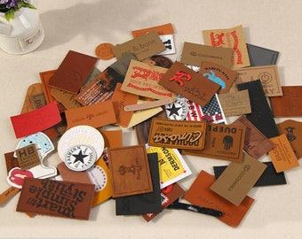 300 real leather label patch, custom genuine Leather Patch, custom leather label