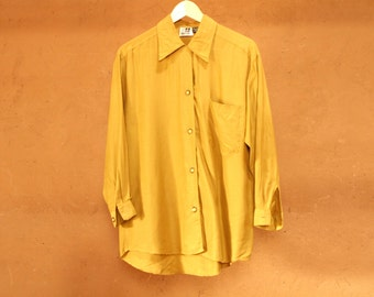 vintage 80s 90s silky WILD monochrome SEINFELD OVERSIZE slouchy button up