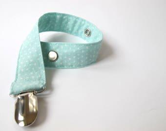 Mint Pacifier Clip/ Soother Clip - Baby Gift