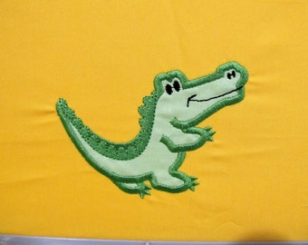 Little Crocodile - Machine embroidery applique designs - 4, 5, 6 and 7 inches  INSTANT DOWNLOAD