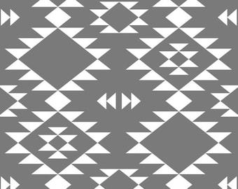 Organic Jersey Navajo Gray Fabric