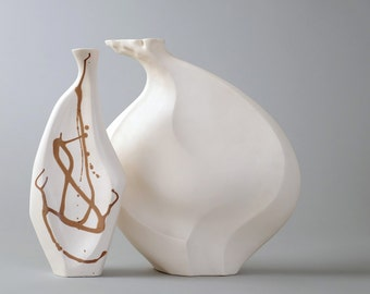 "Ceramic Sculpture - ""Saisho"" - With Inlay"