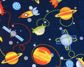 Space Flannel Swaddle Blanket, Receiving Blanket