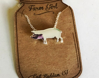 Handmade Pig Necklace
