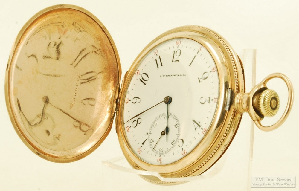 wittnauer longines for s w thompson vintage pocket