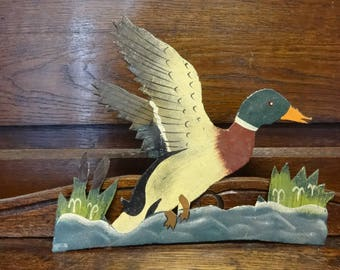 Vintage French Duck Wall Mounted Hanging Decoration Decorative Ornament circa 1960-70's / English Shop