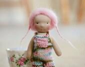 "Joy, a 6.5"" Waldorf inspired mini doll"