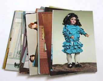 SALE 38 Vintage Doll Unused Postcards - Blank Postcards