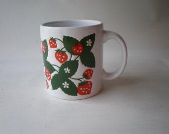 Vintage Waechtersbach Strawberry Mug