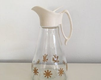 Mid Century Pitcher Starburt Server Liquid