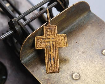 Antique Old cross Christian Cross pendant. Orthodox church