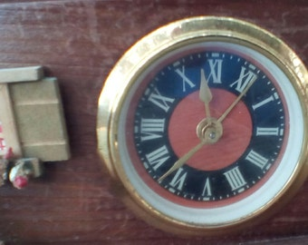 Vintage Chalet Trinket/Jewelry Box and Alarm Clock.  G-293