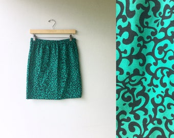 1980s Avon Fahion Tube Mini Skirt // DEADSTOCK // Size Med