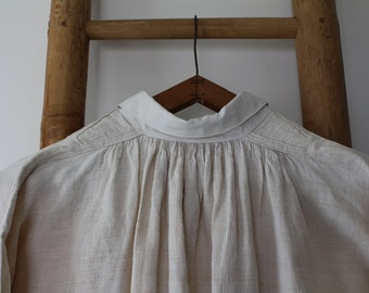 French antique 1900s Linen shirt / antique french linen/ antique French smock shirt