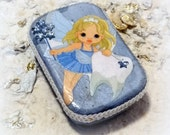 Tooth Fairy Box, Blue, Baby Shower Gift, Baby Teeth Keeper, Altered Altoid Mini Tin