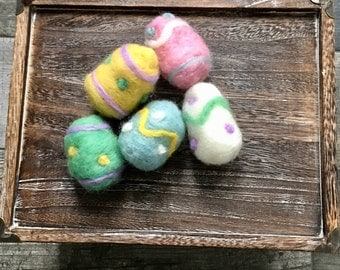Easter Felted Eggs // Photography Prop//